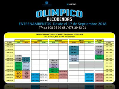 horarios club de baloncesto olimpico alcobendas